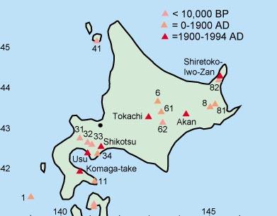 Hokkaido World Map.Oshima Oshima Volcano World Oregon State University