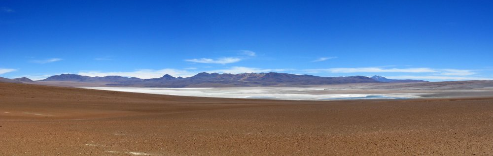 Laguna Colorada domes from southwest