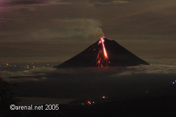 Arenal erupts