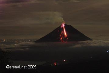 Arenal erupts