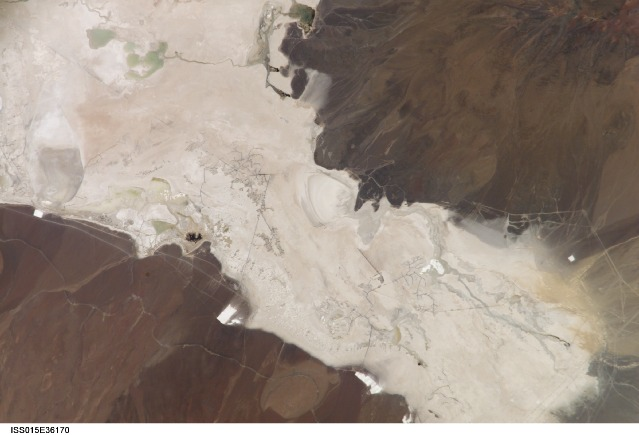 Astronauts about the International Space Station took this photo of the Salar de Ascotan