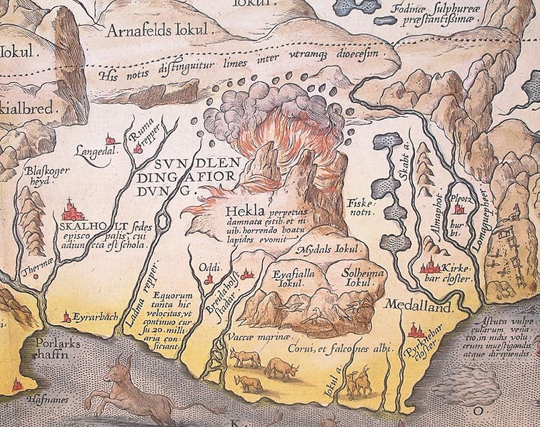Heckle Iceland map