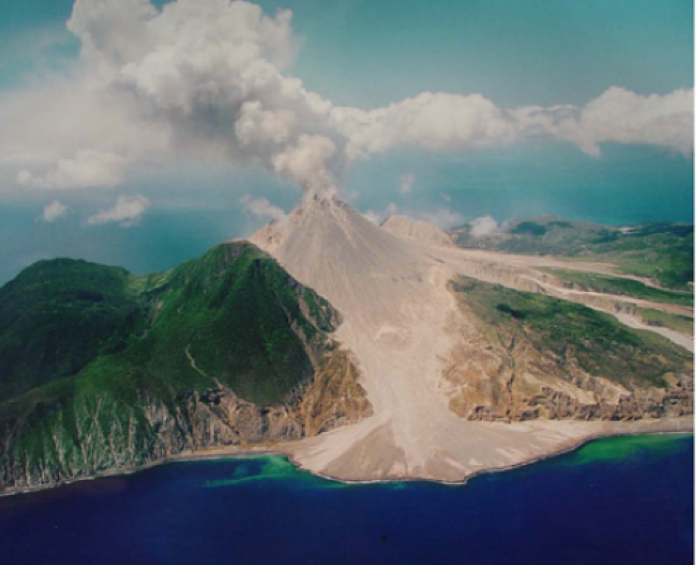 An image taken prior to the Soufriere Hills lava dome collapse in 2003. Figure from Voight et al. (2006).