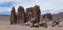 Giant stone columns in the Valley of the Spires