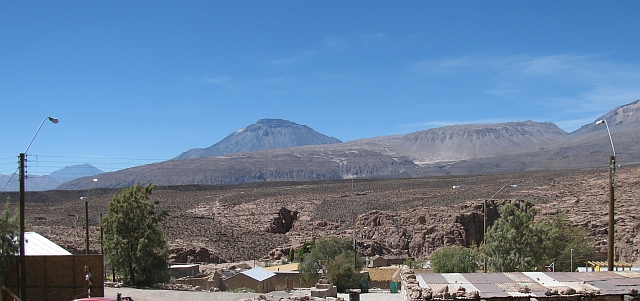 The Chao lava flow seen from the Village of Tocance